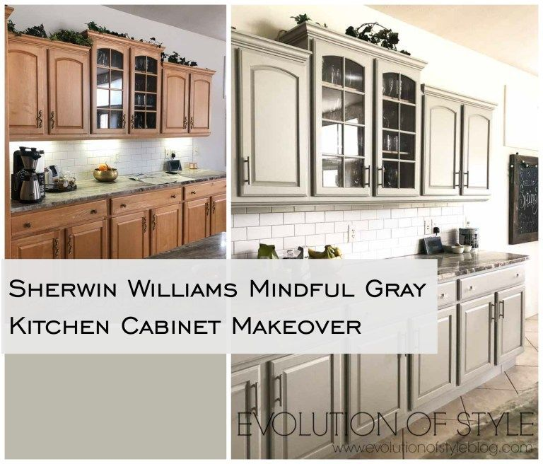 Mindful Gray Kitchen Cabinets Sherwin Williams Mindful ...