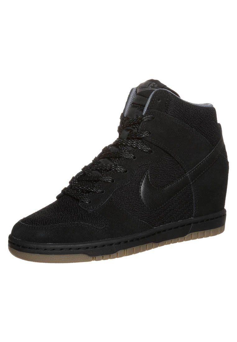 best sneakers 86dae 36025 Nike Sportswear - DUNK SKY - High-top trainers - black light ash grey