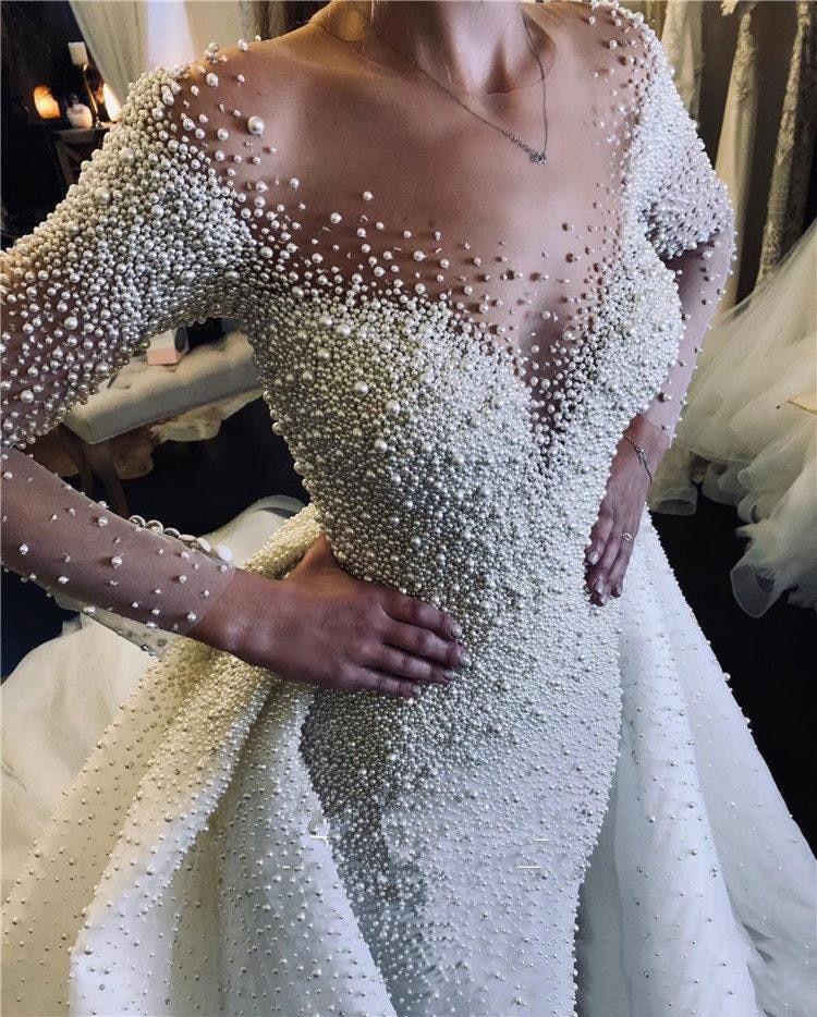 37+ Pearl wedding dress info