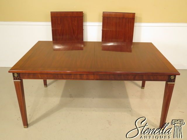 23094E JOHN WIDDICOMB Regency Style Walnut Dining Room Table