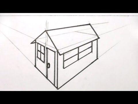 Como dibujar una casa en 3d - Dibujos de casas en perspectiva - comment dessiner une maison en 3d