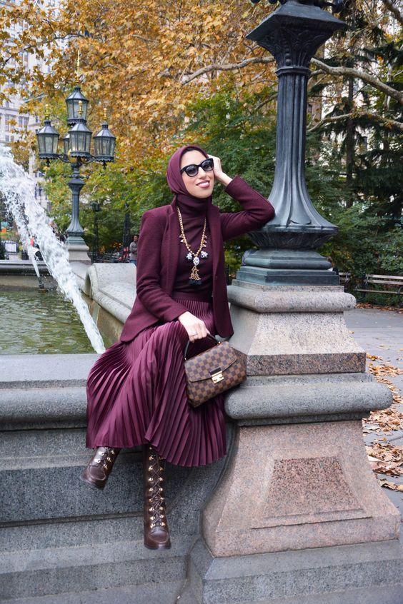 Comment associer la couleur des vêtements pour être stylée ? -   11 hijab style for work ideas