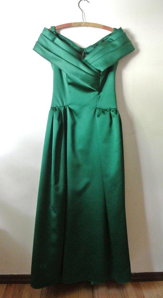 Vintage Green Formal Dress Vintage Maxi Dress