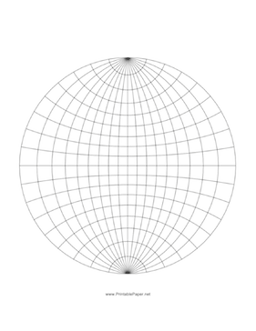 This Printable Graph Paper Is Of A Sphere Projected Onto A Plane