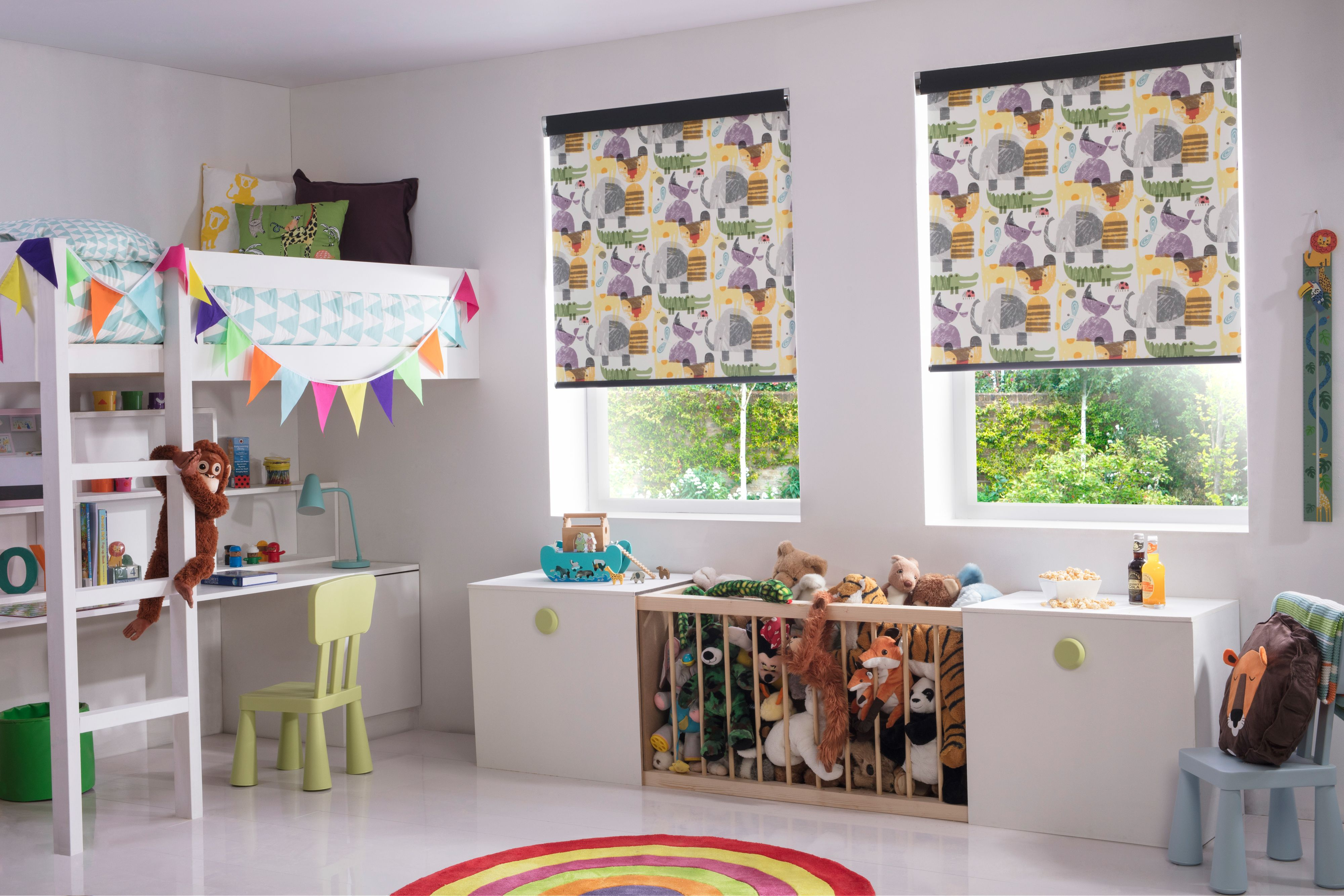 Style Studio Zootime Kids Roller Blinds Roller Blinds Children S Blinds Patterned Window Bli White Blinds Kids Bedroom Inspiration Bedroom Decor Inspiration