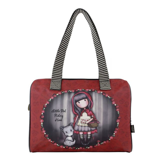Bolso Gorjuss Little Red Riding Hood con dos asas y cierre