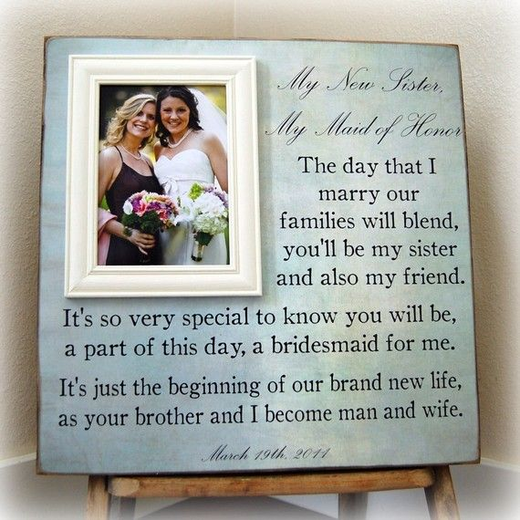 Gift For Sister In Law Wedding: Very Good, Thoughtful Idea For A Future Sister-in-law