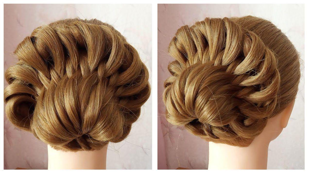 New Beautiful Hairstyle For Party En 2020 Coiffures Simples Chignon Facile A Faire Chignon Facile