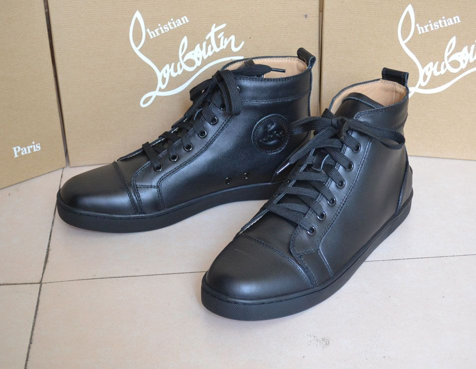 hot sales 35a0c 90632 Christian Louboutin men shoes calf leather no studed high ...