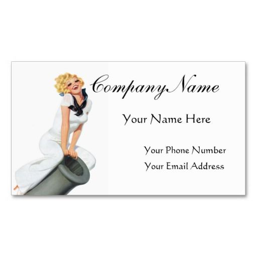 Give em a broadside pin up girl retro art business card templates give em a broadside pin up girl retro art business card templates reheart Gallery