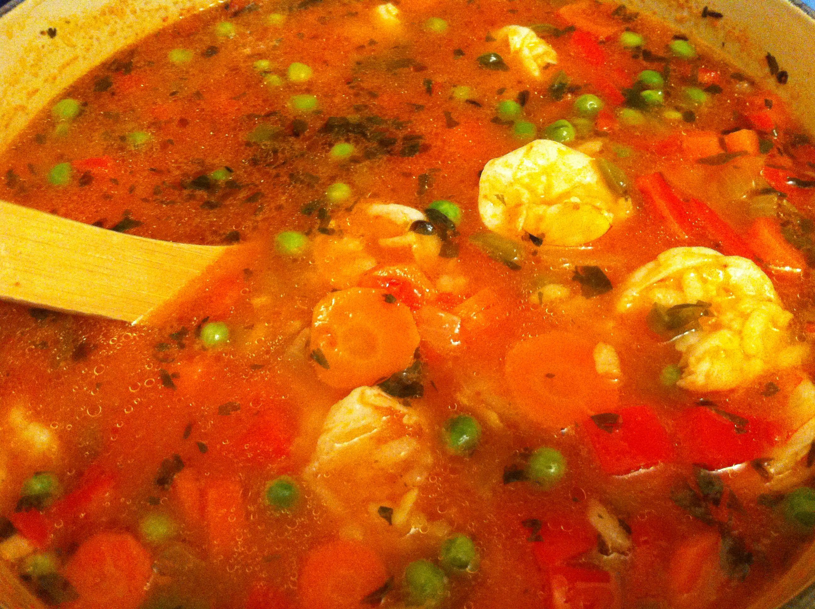 Shrimp Soup Puerto Rican Style Asopao De Camarones Explorar