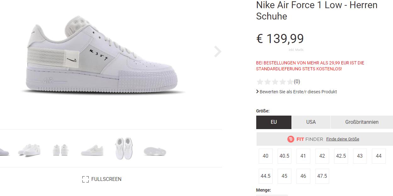 Nike Air Force 1 Type Triple White Grailify