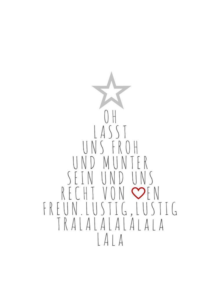 Weihnachtsspruch tannenbaumform