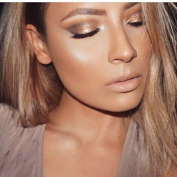Inspirational Bronze Glowy Makeup Looks