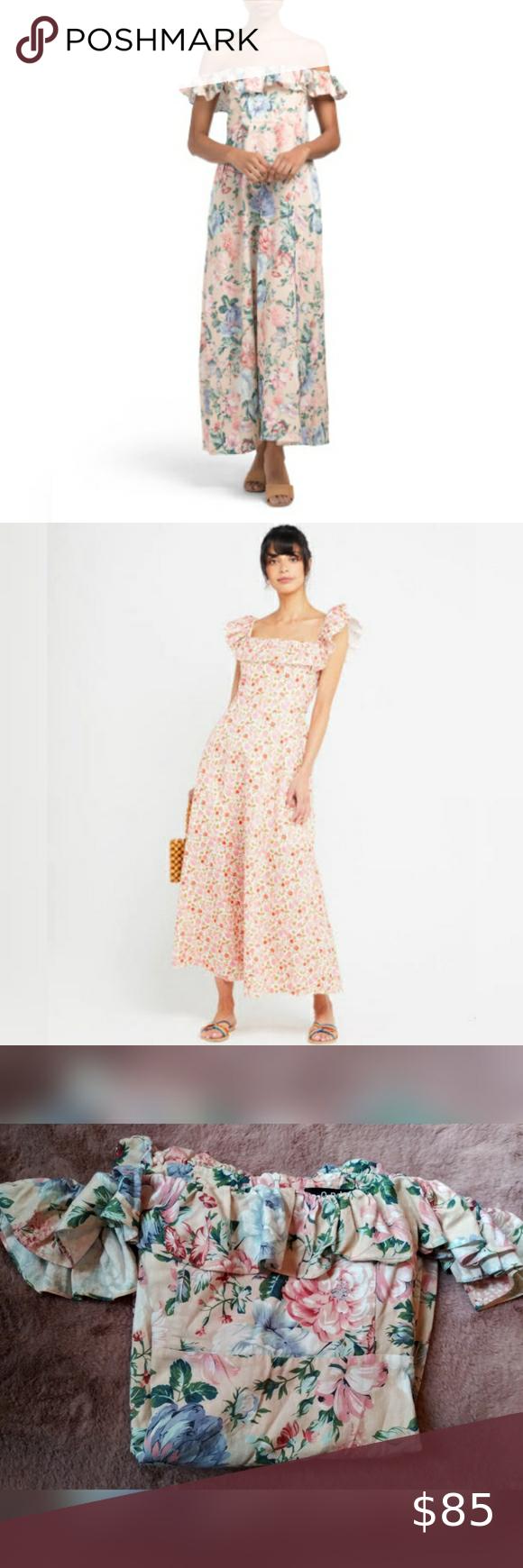 Opt Vita Linen Blend Floral Maxi Dress Xl Nwot Opt Vita Floral Maxi Dress Beautiful Vintage Floral Pattern Off Shoul Floral Maxi Dress Dresses Clothes Design [ 1740 x 580 Pixel ]