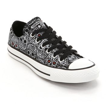 6f80eac880d Converse All Star Skull Shoes for Women - Kohl s - Sale  44.99