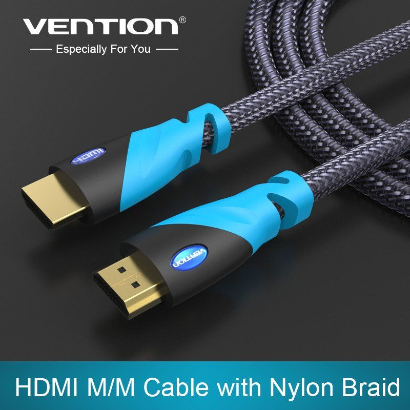 Vention Hdmi Cable 1m 2m 3m 5m Male To Male Gold Plated Hdmi 1 4v 1080p 3d For Ps3 Projector Hd Lcd Apple Tv Computer Cable Projector Hd Hdmi Cables Digital Cable