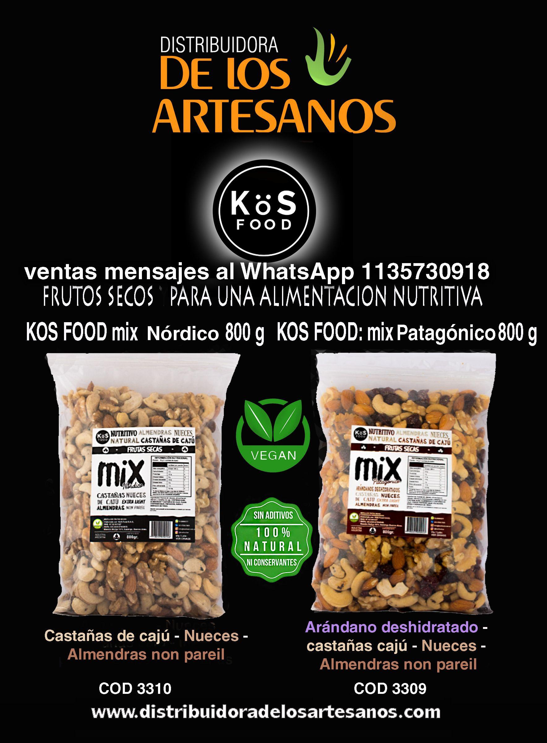 Kös Food Mix Frutos Secos Nórdico Y Patagónico Ventas Por Mayor Distribuidora De Los Artesanos Castañas De Caju Nutritivo Artesanos