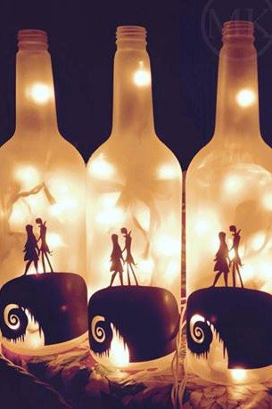 Nightmare Before Christmas Frosted Lighted by MKDesignCrafts Cool
