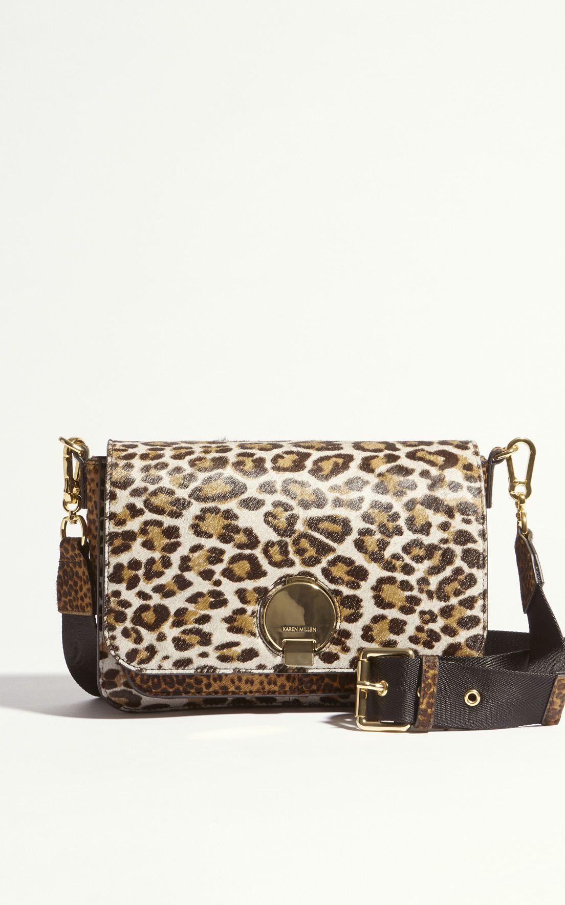 cd07a96fac9 Karen Millen, SHOULDER STRAP CROSS-BODY BAG Leopard Print ...