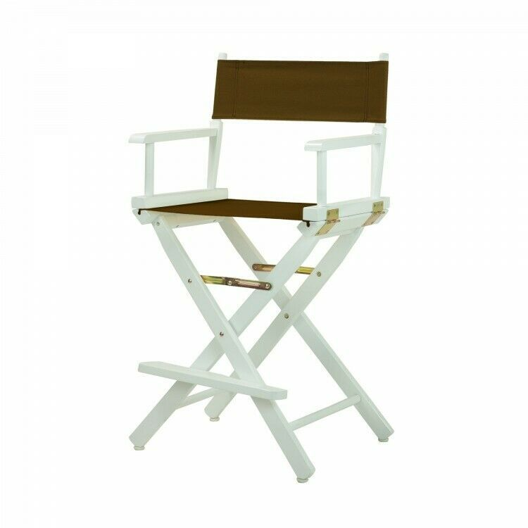 Fabulous Details About 24 Folding Director Chair Wooden White Frame Ncnpc Chair Design For Home Ncnpcorg
