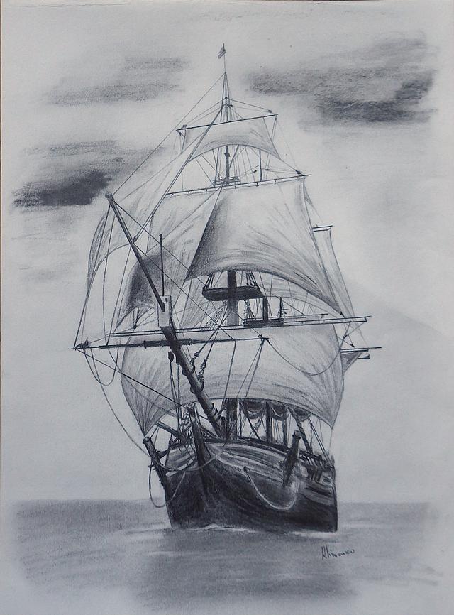 Elena Whitman Graphite Arte De Barcos Dibujo De Barco Como Dibujar Cosas