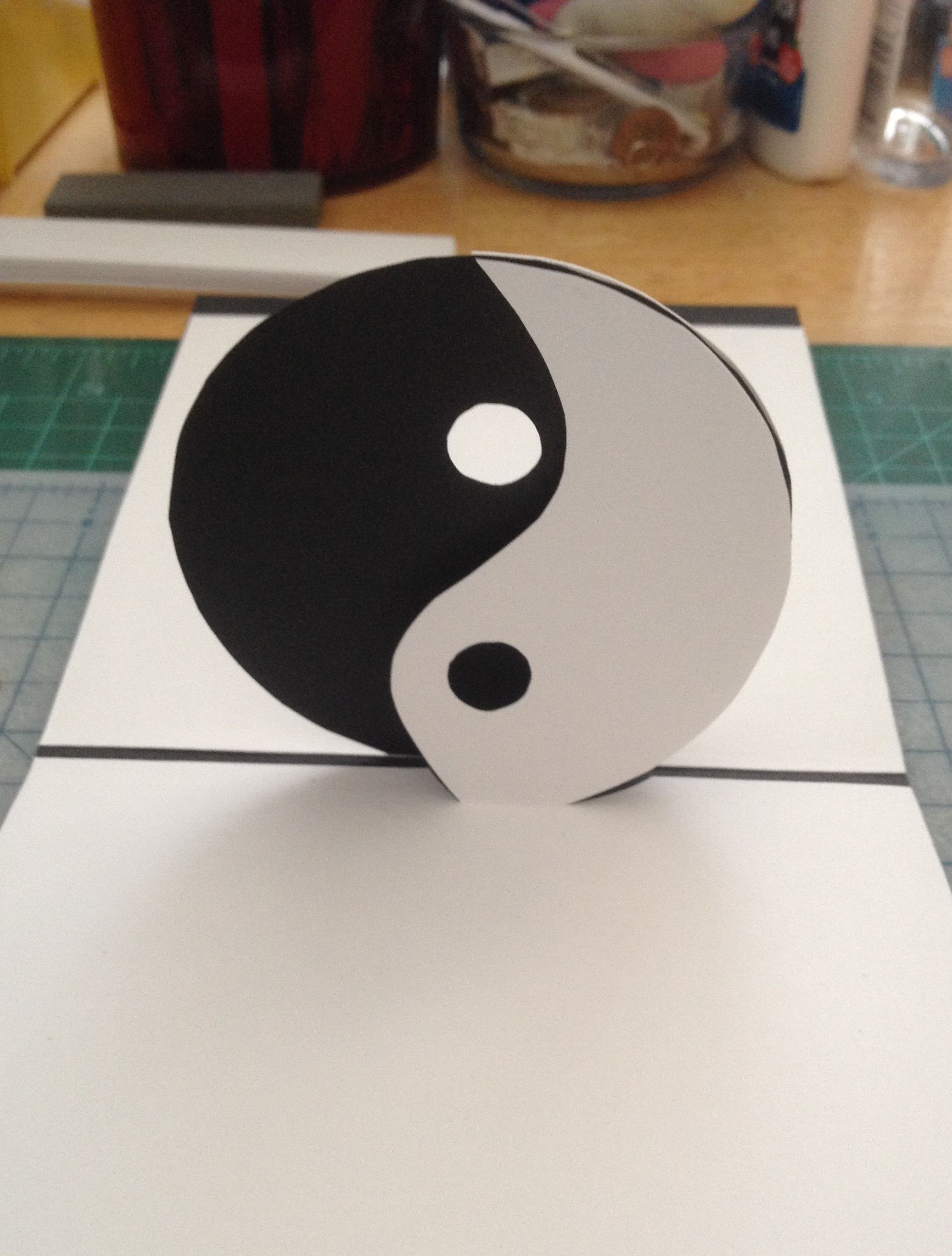 Yin/Yang Symbol pop-up card (Template from \