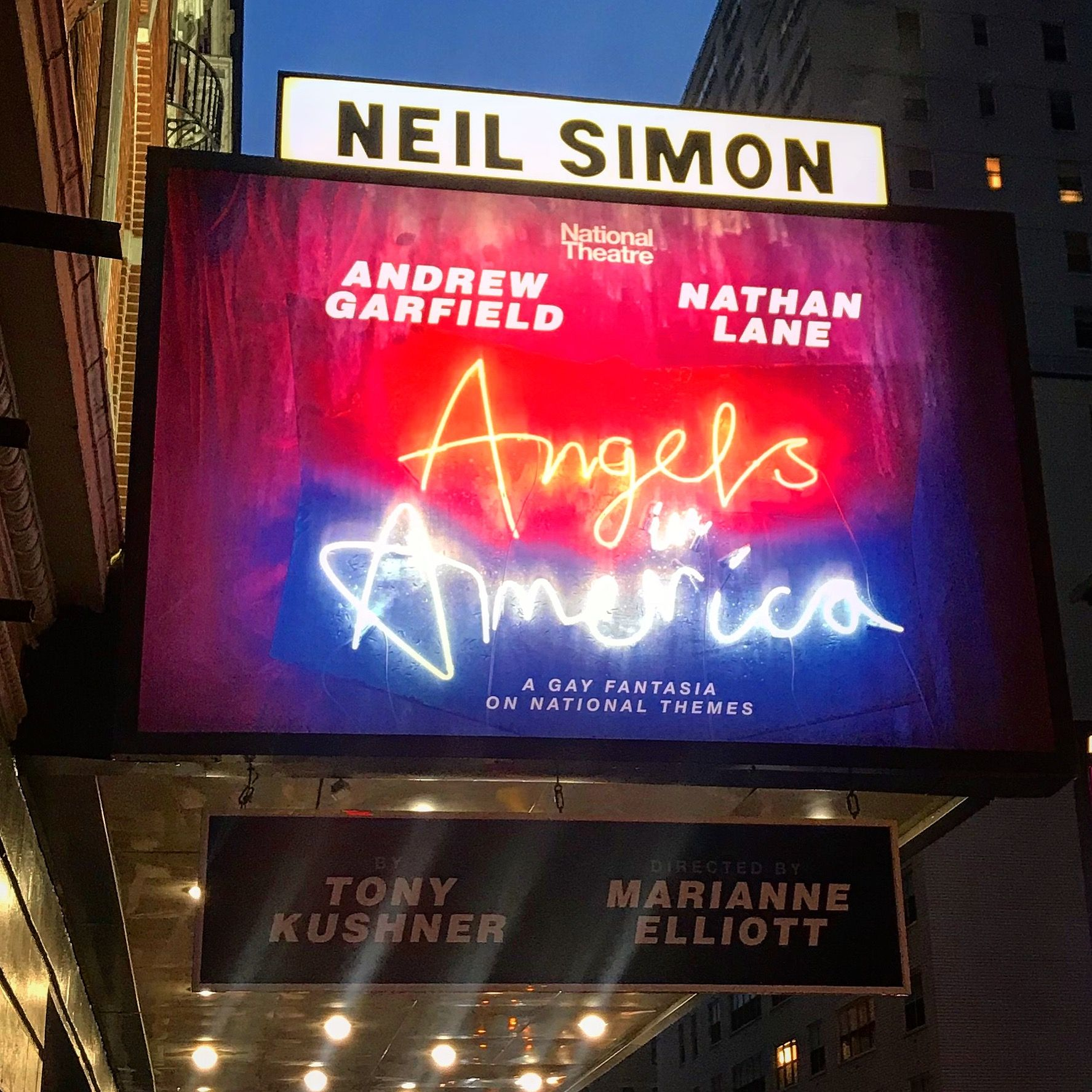 Angels In America At The Neil Simon Feb 2018 Nathan Lane