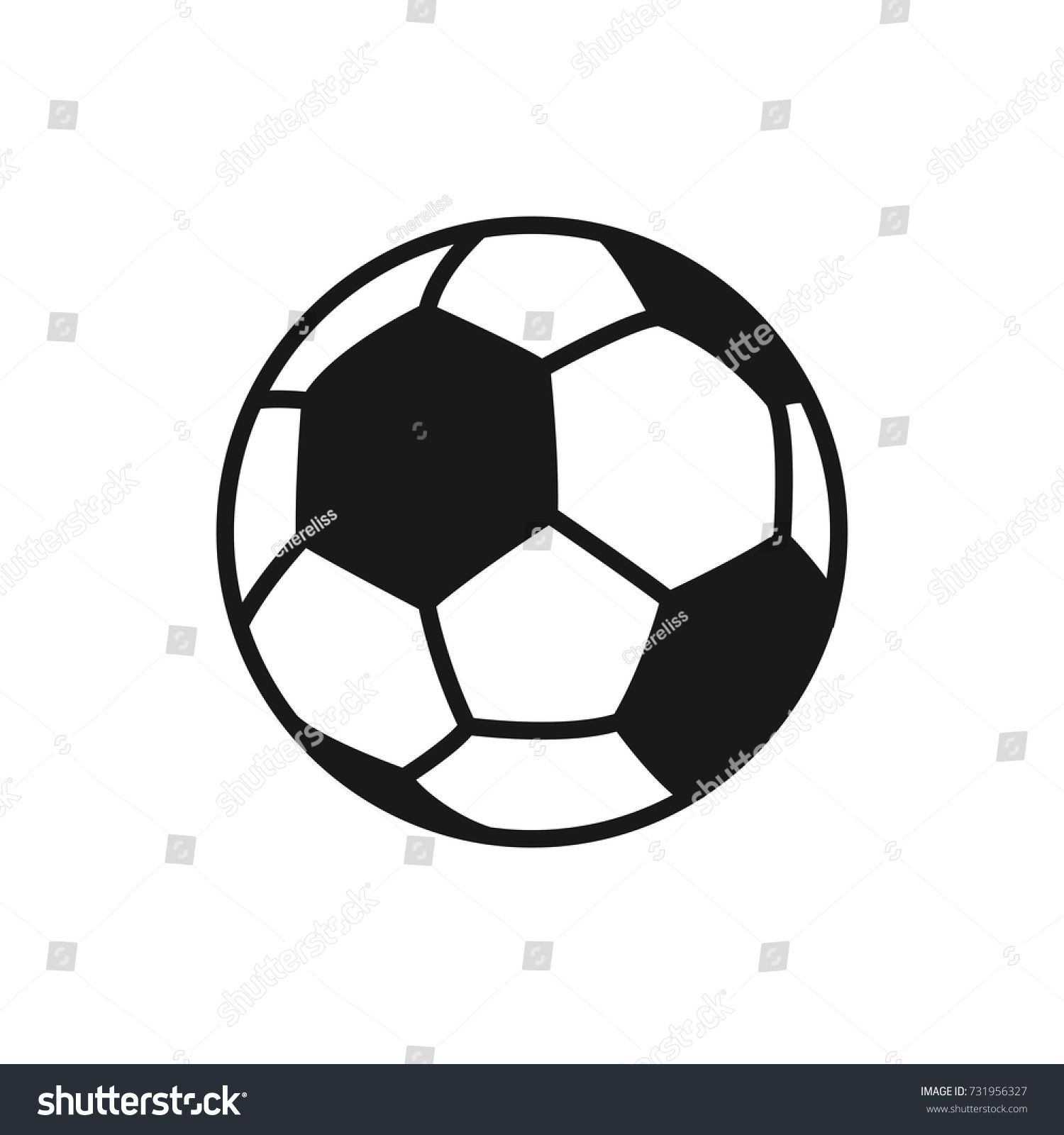 Soccer Ball Football Vector Icon Of Soccer Ball Isolated On White Background Flat Vector Illustration Vector Icon Soccer Soccer Ball Soccer Football Soccer