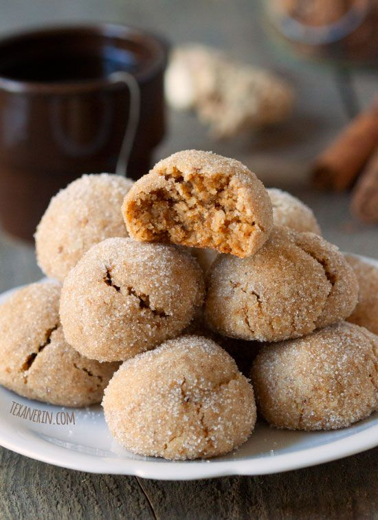 Chewy Chai Spiced Cookies (grain-free, gluten-free, dairy