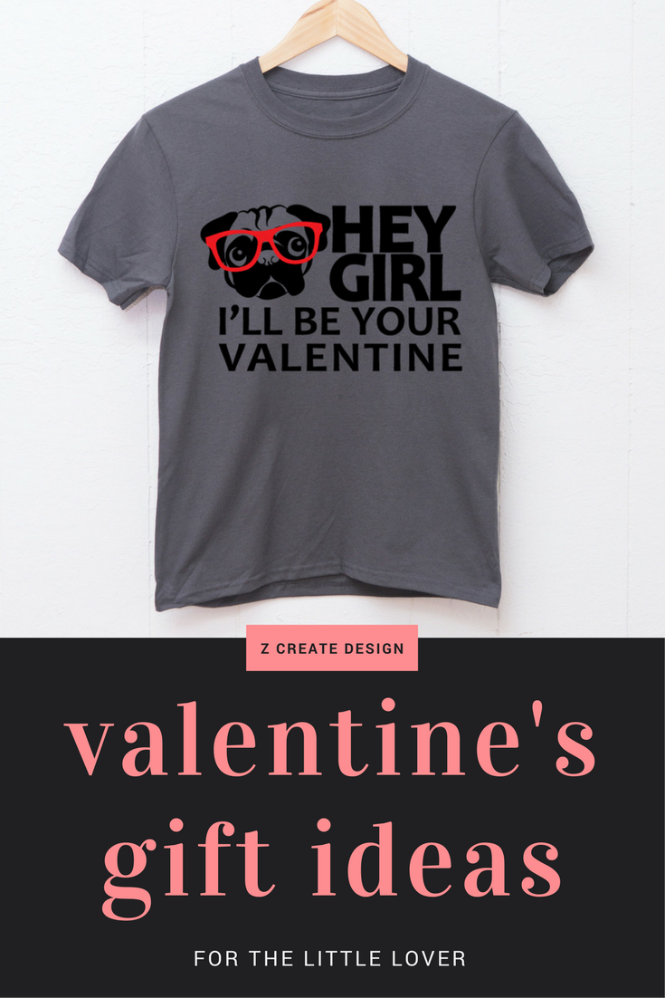 Valentine S Day Shirt For Kids Or Toddlers Hey Girl Pug Design T