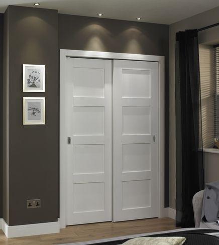 Primed 4 Panel Shaker Door Shaker Interior Doors Sliding Closet