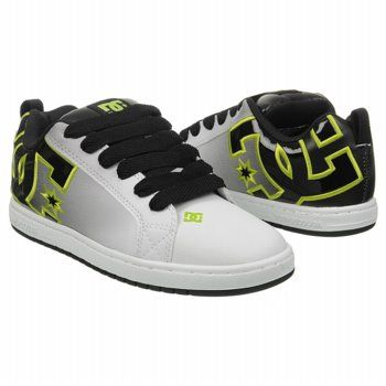 Athletics DC Shoes Men's Court Graffik SE Stencil White/Black/Soft Lim  FamousFootwear.