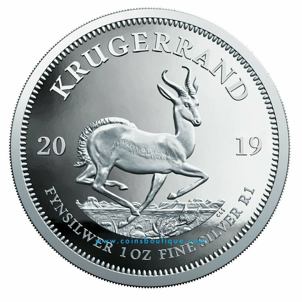 Proof Krugerrand 1oz Silver Coin South Africa 2019 Silver Coins Silver Krugerrand Silver Bullion