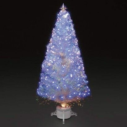 4ft/120cm Polar Ice White Fibre Optic & LED Christmas Tree - 4ft/120cm Polar Ice White Fibre Optic & LED Christmas Tree