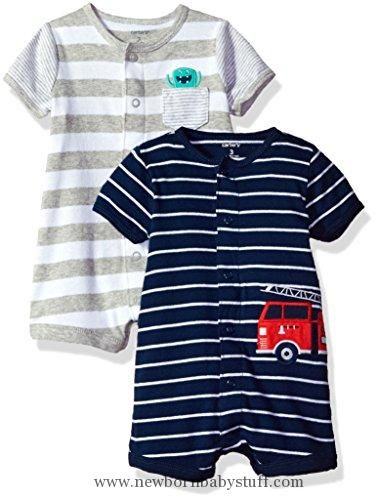 9624a5878 Baby Boy Clothes Carter s Baby Boys  2-Pack Snap up Romper