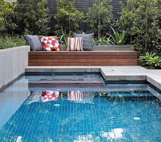 Perfect Size Plunge Pool With The Right Balance Of Concrete And A Timber Bench Seat