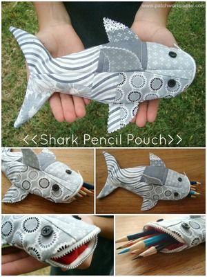 Hai- Federmäppchen