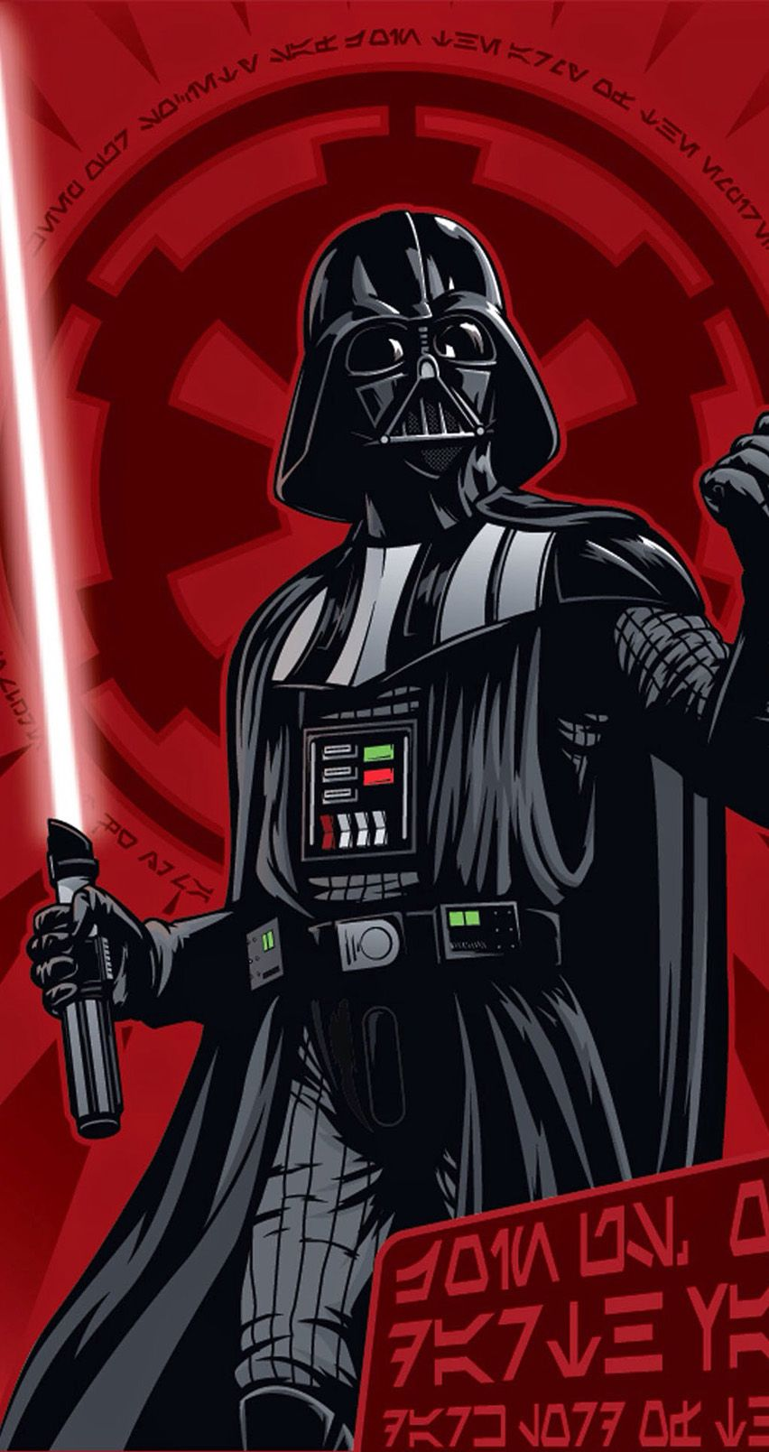 Dark Lord aka Darth Vader. Star Wars Rebellion Propaganda