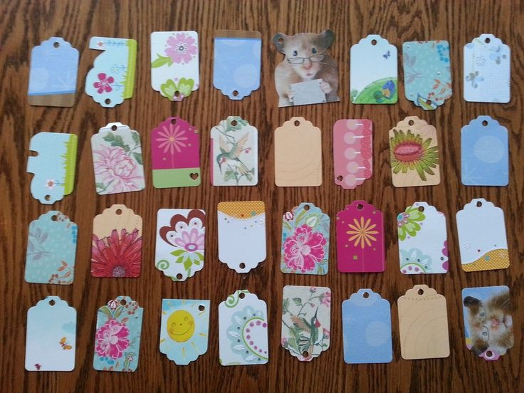 Crafts With Old Christmas Cards | Gift Tags Made From Old Greeting .