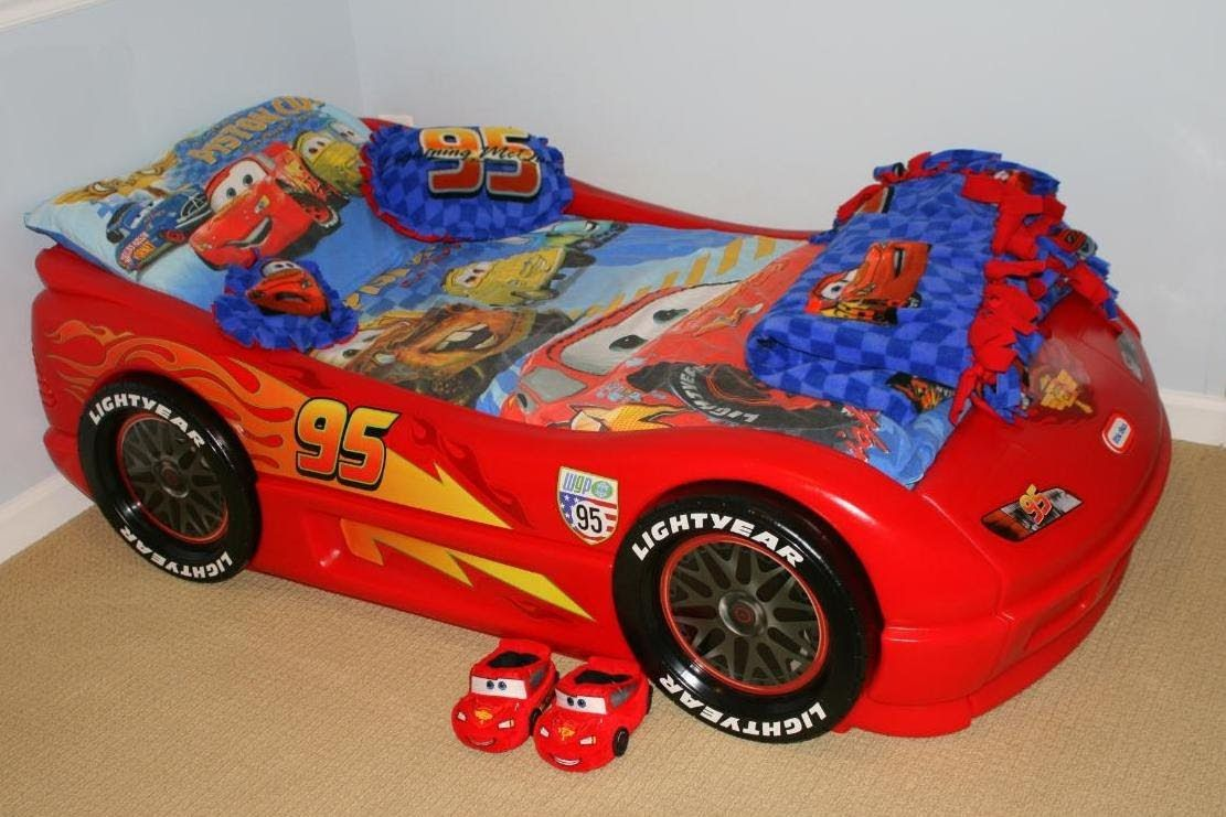 rest in peace Lightning mcqueen toddler bed, Car bed