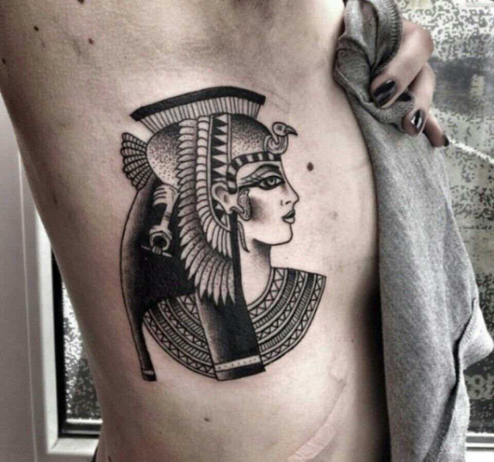 Cleopatra Tattoo Inked Egyptian Tattoo Cleopatra Tattoo