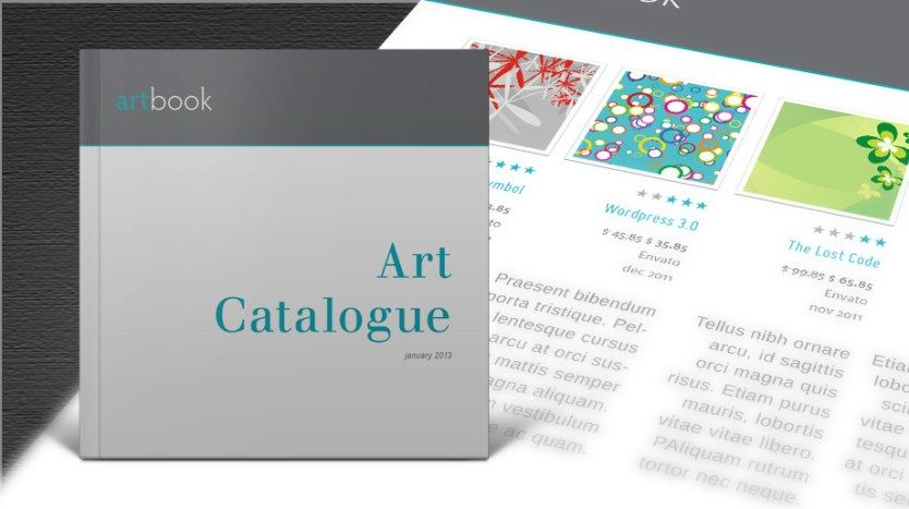 Art Catalogue Template Free Brochure Templates Pinterest