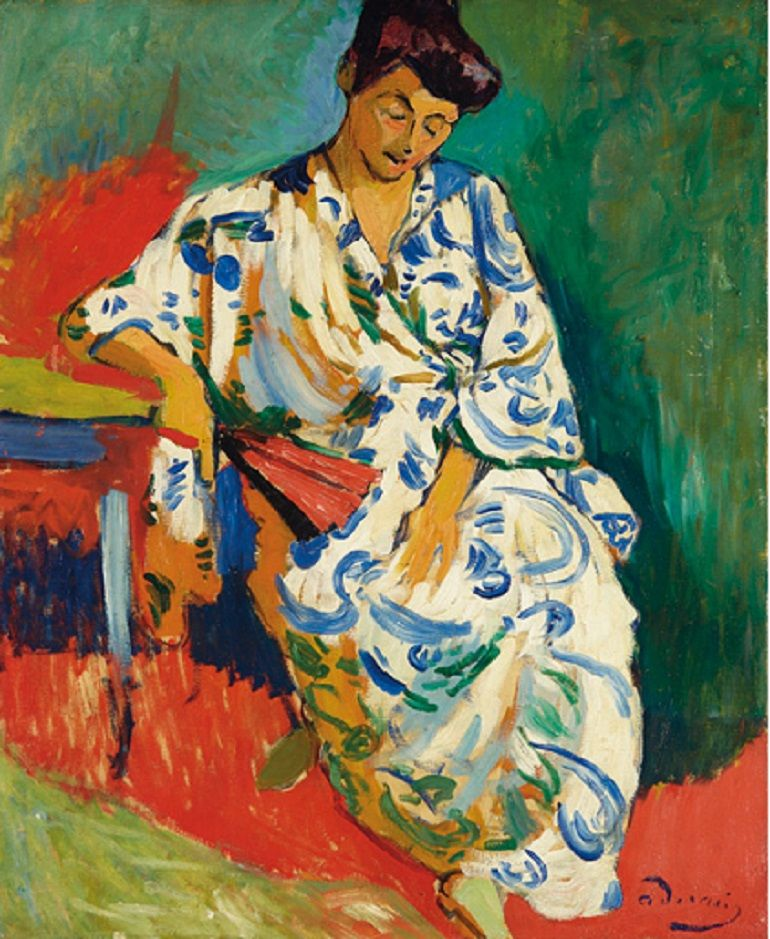 André Derain (1880-1954), Madame Matisse au kimono. Oil on canvas. Painted in 1905
