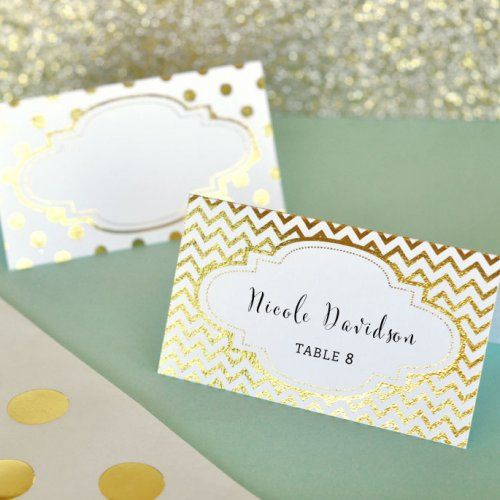 Goes With Gold Theme Wedding Decor Name Place Cards