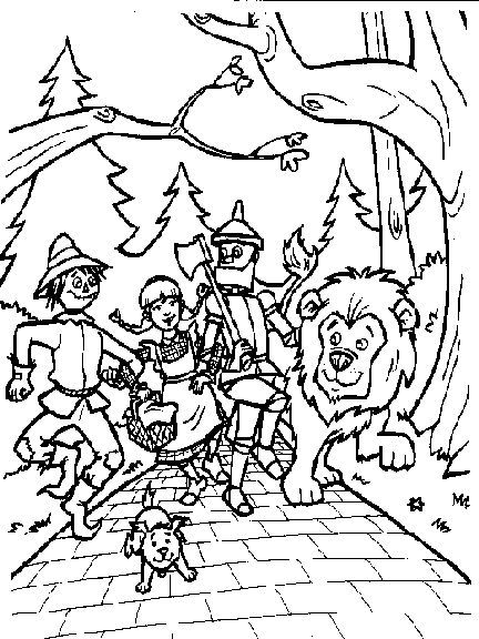 Wizard Of Oz Coloring Pages To Print Wizard Of Oz Color Coloring Books Witch Coloring Pages