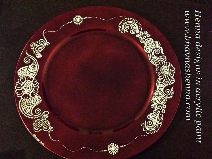 Diy Mehndi Plates : Mehndi designs on plates google search indian themes and