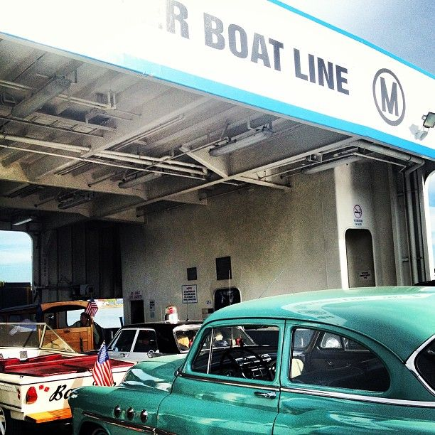 Antique cars aboard Miller Ferry. Photo via @Miller Ferries to Put-in-Bay & Middle Bass Instagram.