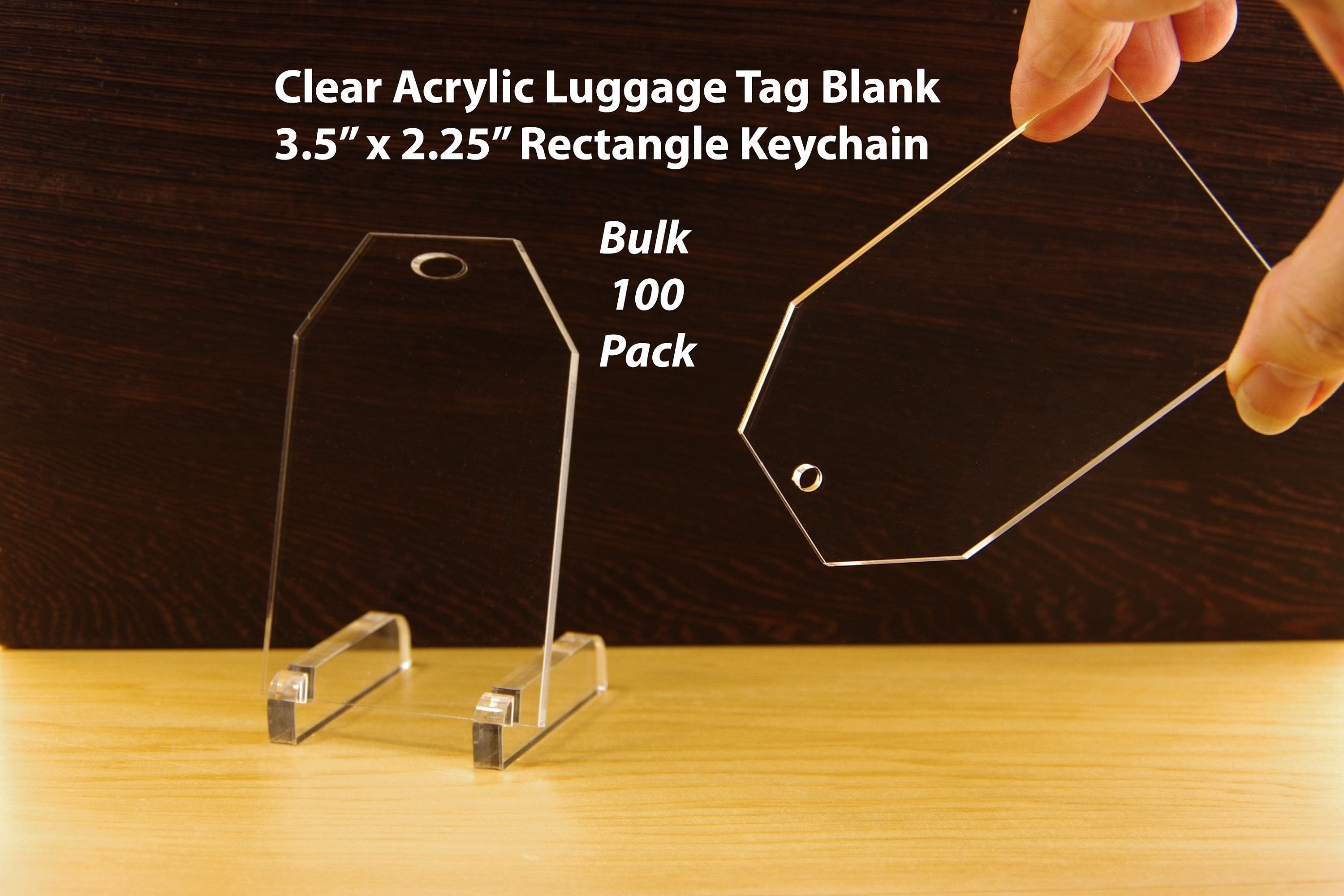 "10 3/"" Guitar Clear Acrylic 1//8/' Thick Keychain Blanks"