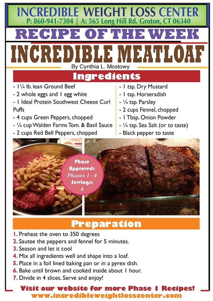 ideal protein Incredible Meatloaf